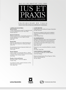 Revista Ius et Praxis Vol. 19 núm. 1 2013