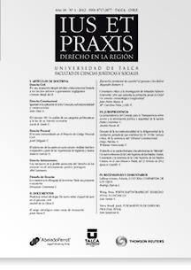 Revista Ius et Praxis Vol. 18 núm. 1 2012